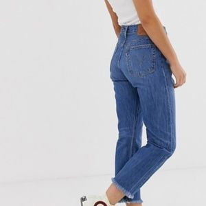Levi's 501 Frayed Edges High Rise Jeans